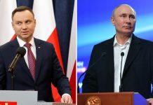 Президент Польши Анджей Дуда и президент России Владимир Путин