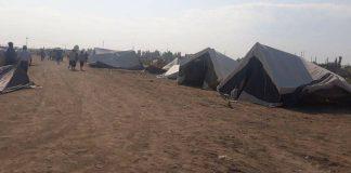 Жители, лишившиеся домов были размещены в палаточном лагере
