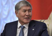 Алмазбек Атамбаев на встрече с президентом России Владимиром Путиным в 2017 году / фото: ТАСС
