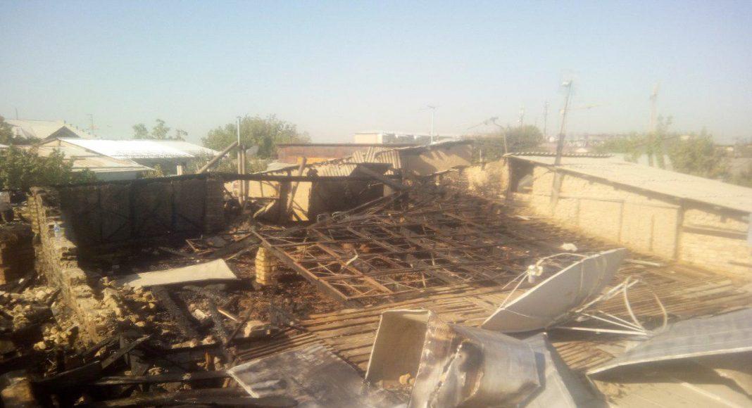 Пожар в Шайхантахурском районе