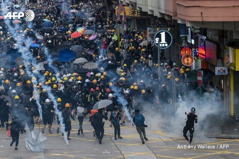 В Гонконге десятую неделю подряд продолжаются акции протеста