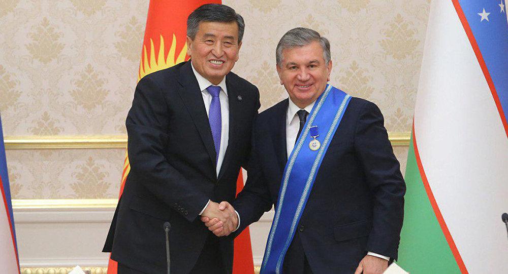 Сооронбай Жээнбеков и Шавкат Мирзиеев