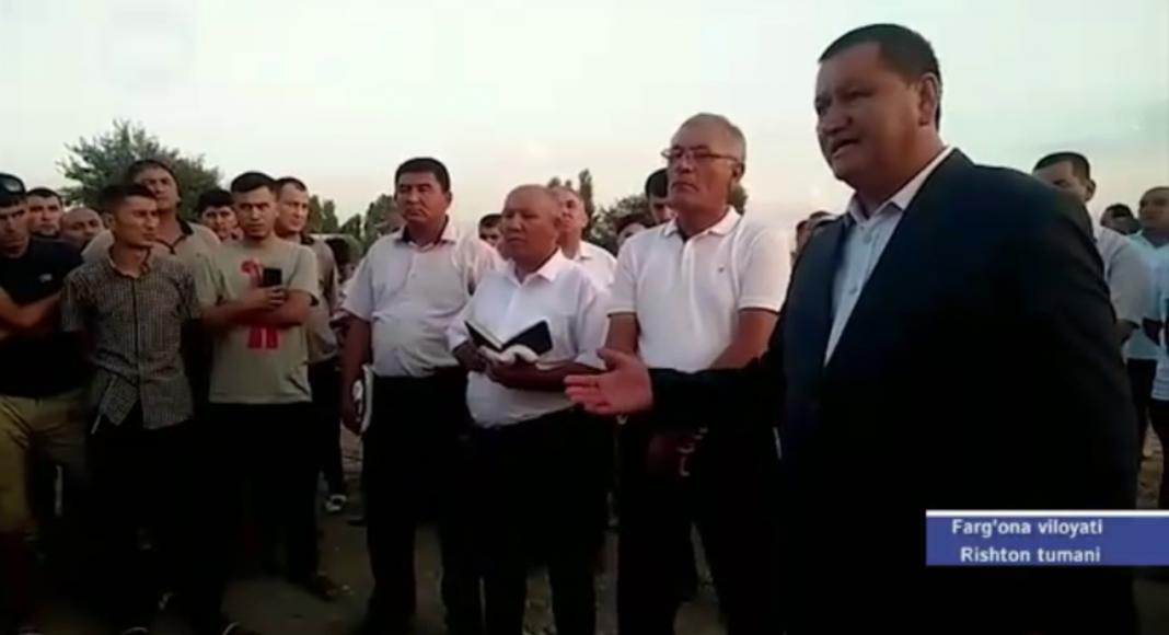 Хоким Ферганской области Шухрат Ганиев принес публичные извинения жителям Риштанского района за незаконные сносы