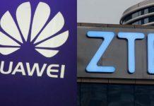 продукции Huawei и ZTE
