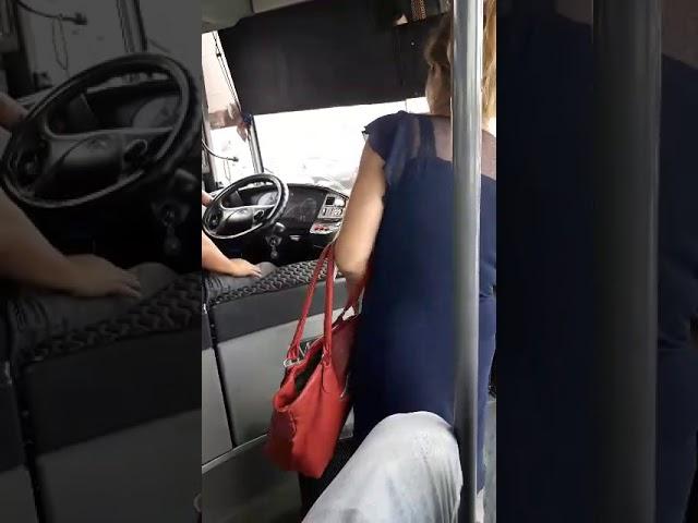 «Яжемать» в истерике разбила дверь автобуса, когда водитель отказался высадить ее посреди дороги