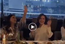 На этом видео, предположительно снятом и распространенном самой Гагариной, видны дочери и зятья президента Узбекистана Шавката Мирзиёева, хором подпевающие песню «Обезоружена».