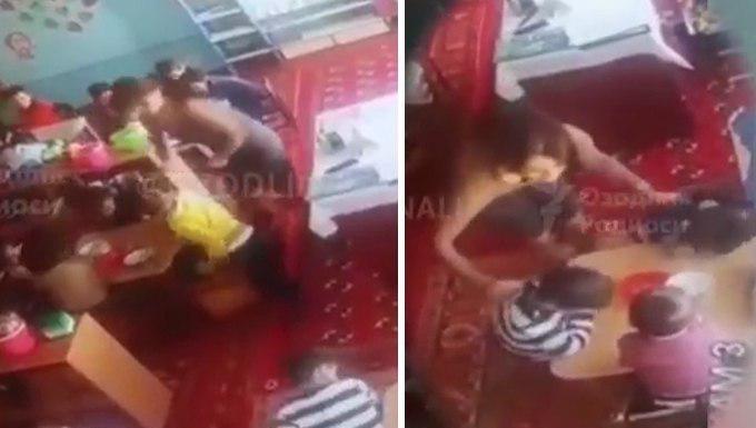 В Ургенче воспитательница на протяжении 20 минут избивала малышей линейкой
