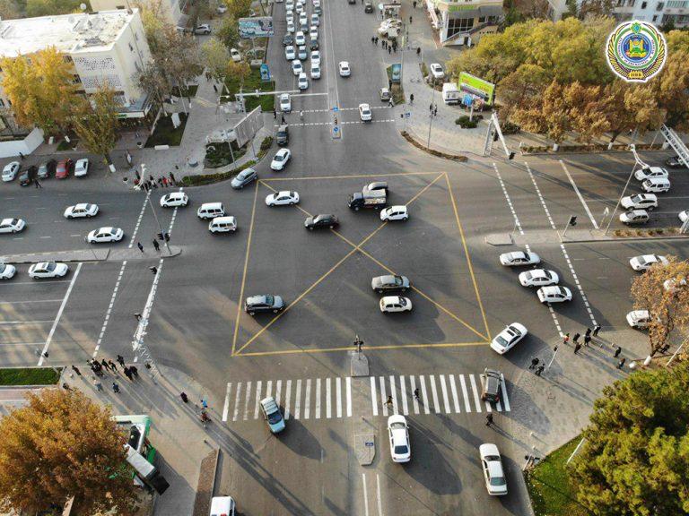 Еще один вид новой разметки появился в Ташкенте
