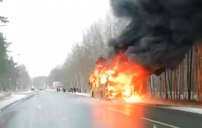 Автобус пожар