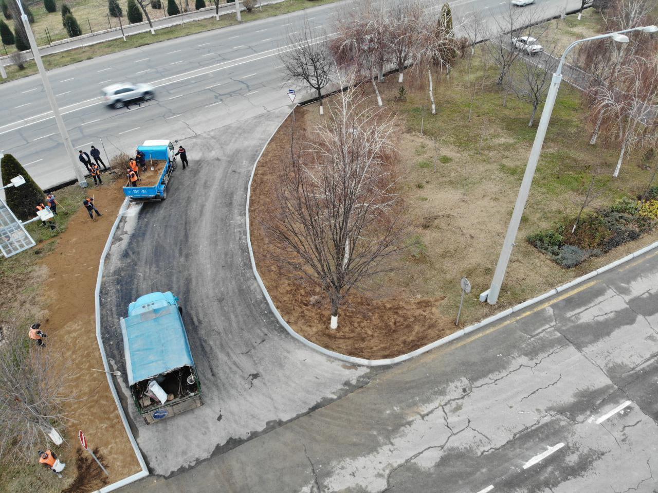Дорожные службы открыли разворот с улицы Мовароуннахр на улицу Абдуллы Кадыри в районе «старого ТашМИ».