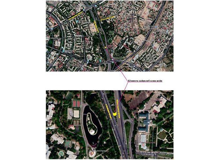 Схема предполагаемого разворота. Нажмите для увеличения. Источник: ГУВД Ташкента