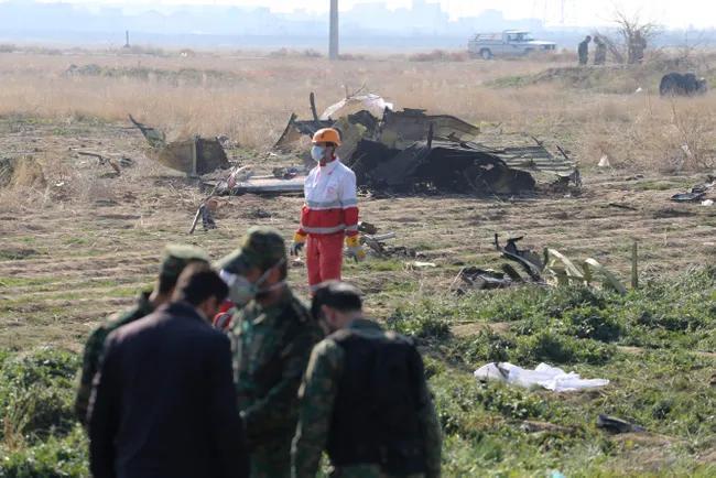 Место крушения самолет «Международных авиалиний Украины» в Иране. 8 января 2020 года Rouzbeh Fouladi / ZUMA / Scanpix / LET