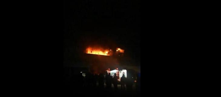Пожар в Навои