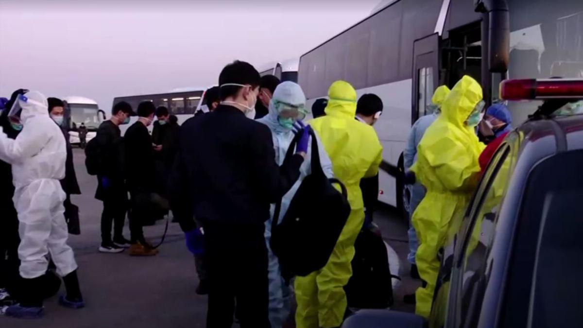 Отправка пассажиров, прибывших из Китая, на карантин в Ташкенте
