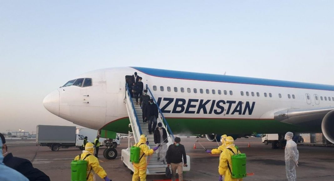 Карантин и дезинфекция пассажиров по прилете из Китая в связи с распространением коронавируса COVID-19