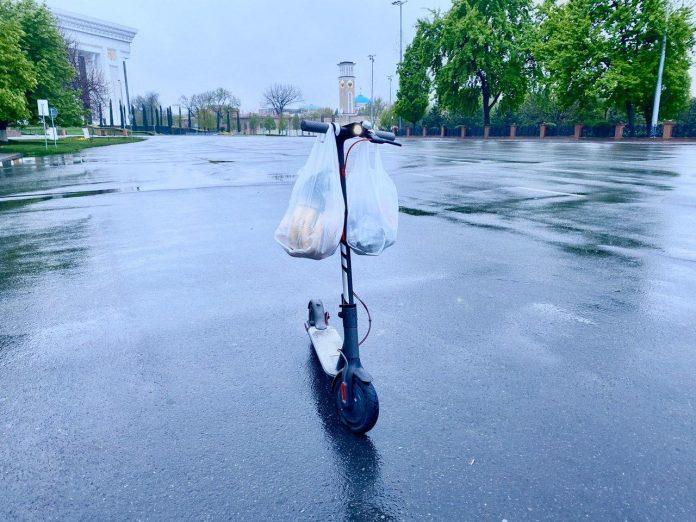 Электросамокат в Ташкенте // Фото: @trolluz https://t.me/trolluz